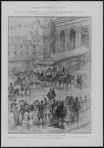 1902-Antique-Print-LONDON-St-Pauls-Kings-Thanksgiving-West-Door-Cathedral-158