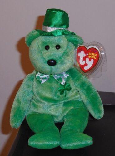 Internet Exclusive MWMT Ty Beanie Baby ~ O/'LUCKY the Irish Bear