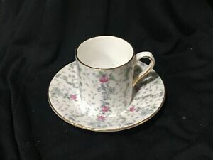 Tea-Cup-amp-Saucer-Royal-Grafton-Bone-China-Flowers-Made-In-England