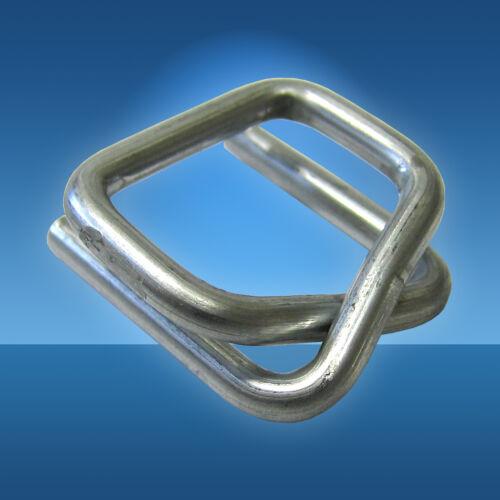500 Metallverschlussklemmen 25 mm verzinkt für Umreifungsband Umreifungsgerät
