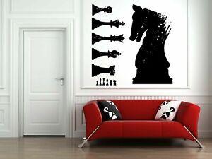 Wall Vinyl Sticker Decals Mural Room Design Art Chess Game Sport Horse bo1826