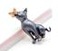miniature 6 - Cat Brooch Pin Badge Enamel Gift Grey Gold Jewellery Kitten Ladies Butterfly UK