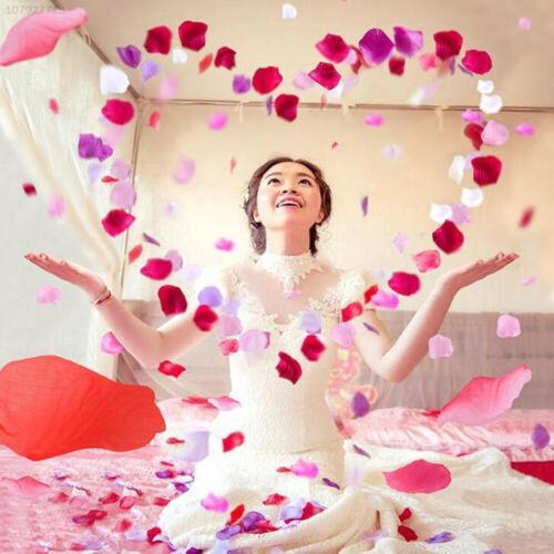 51E3 Silk Artificial Rose Petal Floral Decor 100pcs//Pack Prop Colorful