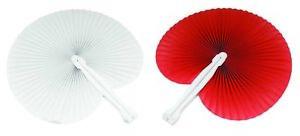 100-pezzi-Ventagli-50-bianchi-50-rosso-bomboniera-per-matrimoni-comunioni-feste