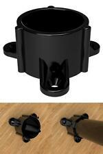 1-1//2 In Furniture Grade Pvc Table Screw Cap In Black 10-Pack