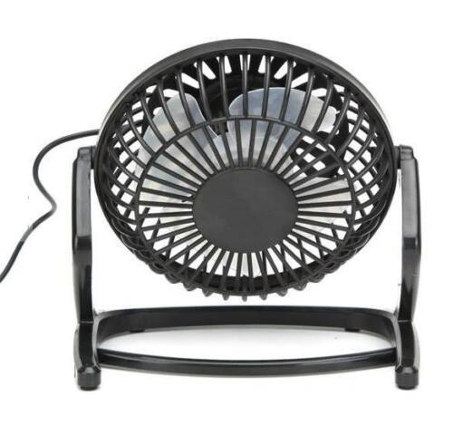 Portable Mini USB Black Ultra-quiet Desk Cooling Fan Cooler PC Laptop Notebook
