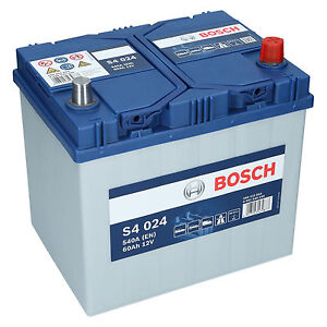 pkw autobatterie 12 volt 60 ah bosch s4 024. Black Bedroom Furniture Sets. Home Design Ideas