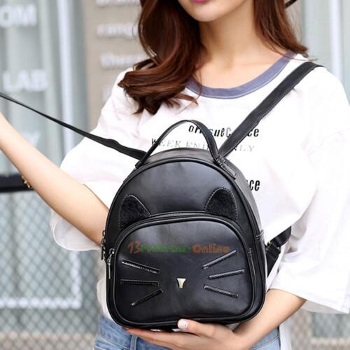 Women Backpack Pu Leather Handbag School Shoulder Tote Bag Rucksack Travel Purse