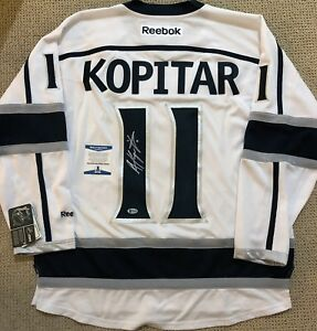 buy popular 3738f 5a4bc Details about ANZE KOPITAR SIGNED LA KINGS JERSEY *BECKETT COA* BAS  AUTHENTIC AUTOGRAPH