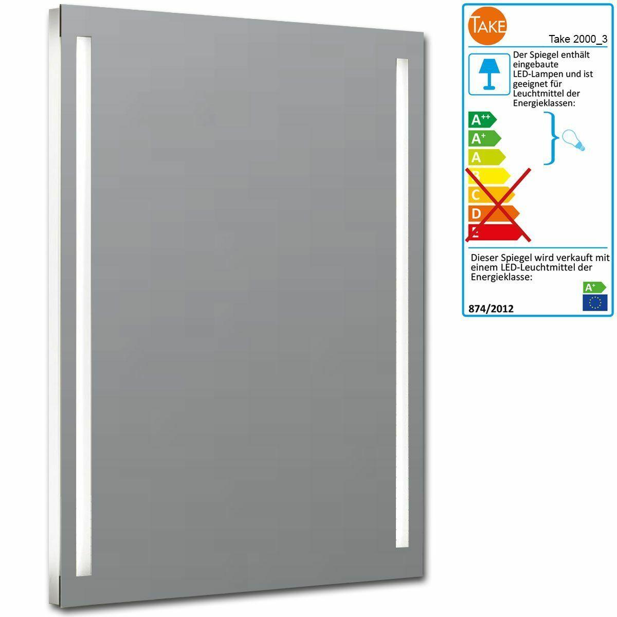 Spiegel Badspiegel 20003 LED-Beleuchtung dimmbar hinterleuchtet 600x800x35 mm