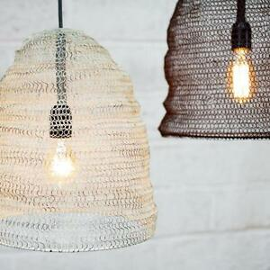 Metal wire mesh pendant light lamp shade oval industrial loft image is loading metal wire mesh pendant light lamp shade oval greentooth Gallery