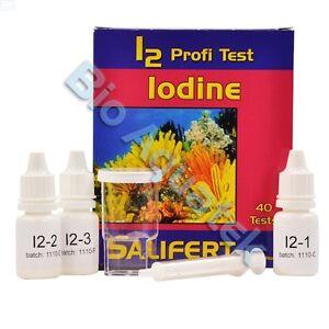Iodine i2 salifert profi aquarium marine reef fish tank for Fish tank test kit