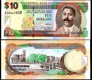 BARBADOS-10-DOLLARS-2007-P-68-UNC