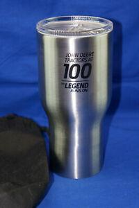 John Deere 100 Legend Runs On Insulated Stainless Steel 30 oz Travel Mug w/Lid