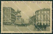 Napoli Città Municipio Carrozze cartolina XB0241