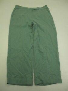 TOMMY-BAHAMA-Capri-Pants-Women-039-s-Size-8-100-Silk-Flat-Front-Turquoise-WA1055