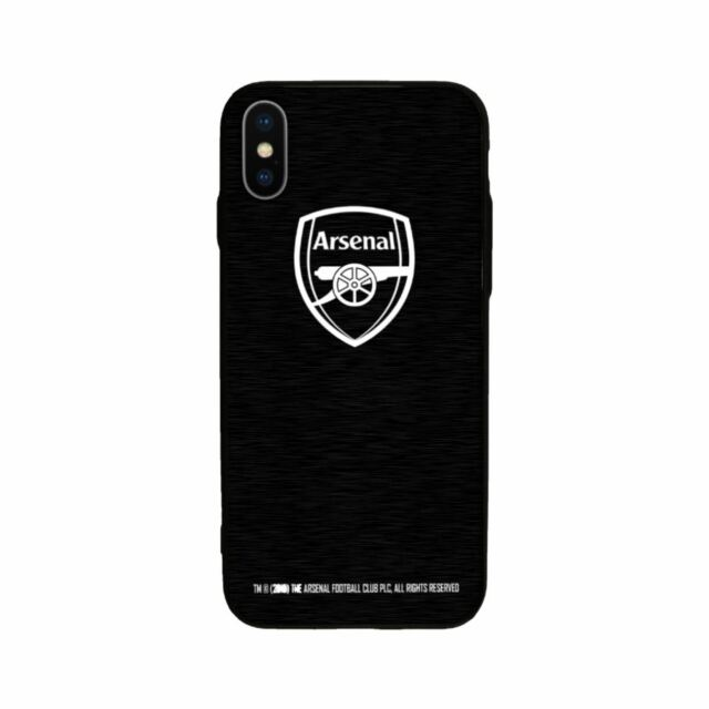 newest 1bafb 71826 Arsenal FC Apple iPhone X 10 Metal Aluminium Black Case Hard Cover Gift