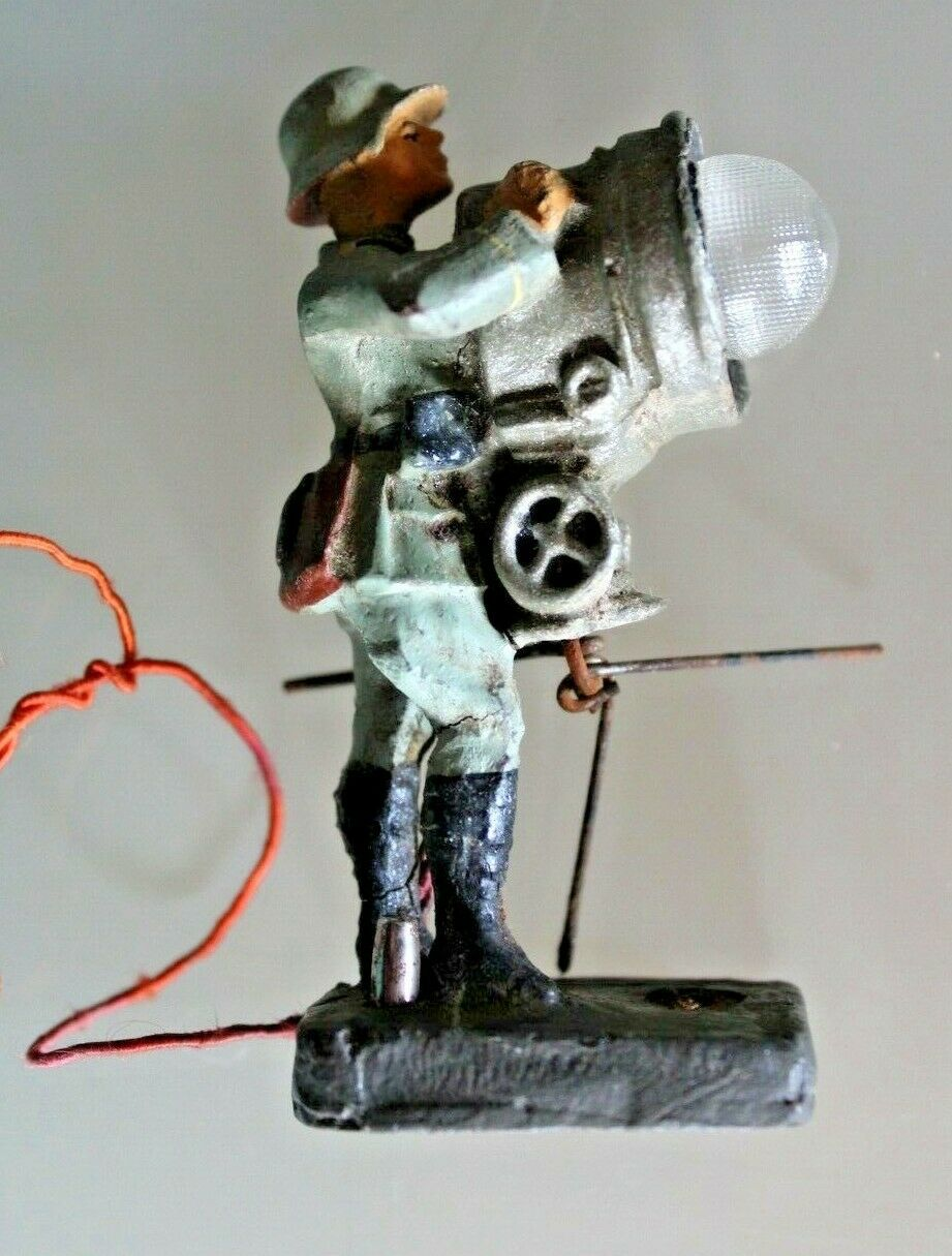 Soldier Old Lineol Composition Soldier with Projector Anti-aircraft 1930