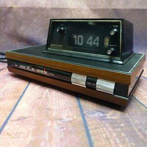 Vintage-Admiral-Flip-Clock-AM-Alarm-Radio-Model-CR-61-Made-in-Japan-SUPER-RARE