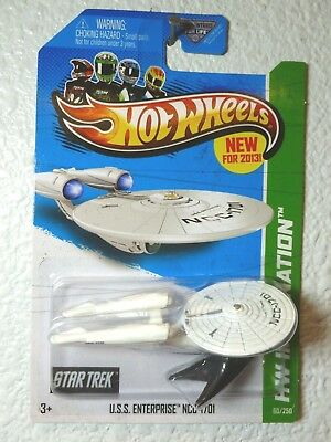 ENTERPRISE NCC-1701 BATTLE DAMAGED 60//250 HW Imagination 2013 Hot Wheels U.S.S