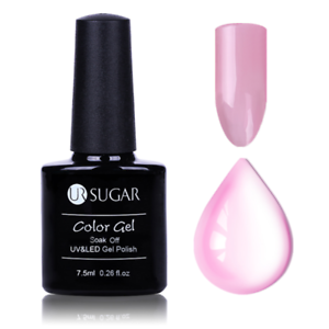 7-5ml-Soak-Off-UV-Gellack-Nagel-Opal-Gelee-Halbtransparent-Rosa-Nagellack-Dekor