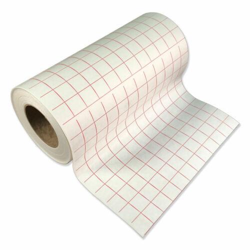"BEST SELLER Red Grid Transfer Paper//Tape for vinyl crafts Hobby 1roll 12/""x6 ft"