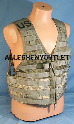 US Military ACU FLC Fighting Load Carrier Tactical Vest Digital Camo MOLLE GC