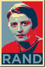 Ayn Rand Arte Foto Imprimir 3 (Obama esperanza parodia) Poster Regalo citar Atlas cuatro
