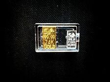 24k 99.99 Gold & Fine 99.9 Silver ACB 10 Grain Combo Pack in Airtight Case.
