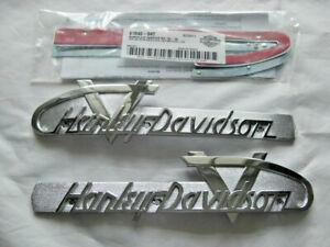 Harley Davidson 1955-56 Style Tankembleme Tankschilder mit Adapter Kit 61814-55T