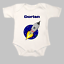 Personalised funny space rocket short sleeve baby grow gro body suit vest named