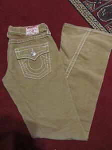 Joey Beige Big Seam Jeans True Corduroy T 27x34 Twisted Religion taglia Flare awxnq5Uq6E
