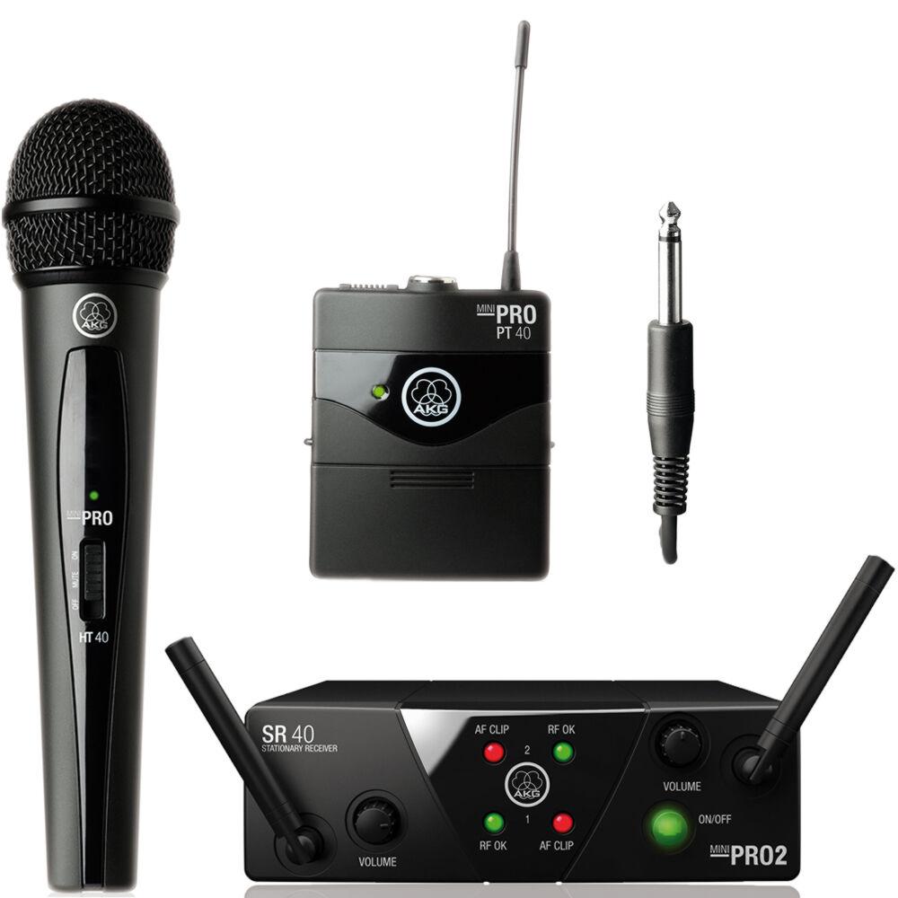 AKG WMS 40 Mini 2 VOCAL INSTRUMENTAL SET Dual - RADIOMICROFONO