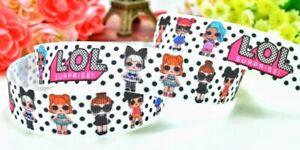 "7//8/"" 5 YARDS LOL Doll Girls Grosgrain Ribbon Bows Scrapbook Cards Crafts"