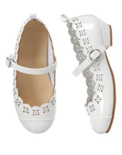 NWT Gymboree Egg Hunt White Scalloped Dress Shoes  10 1 2 3 Girl