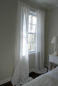 IKEA Paire de Blanc Rideaux, Clair Diffusant Transparent Uni, 3 ...