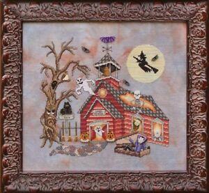 GLENDON-PLACE-Cross-Stitch-Pattern-Chart-GHOOL-SCHOOL-Halloween