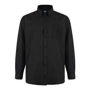 Kam Oxford Long Sleeve Shirt Black BIG 3XL 4XL 5XL 6XL 7XL 8XL