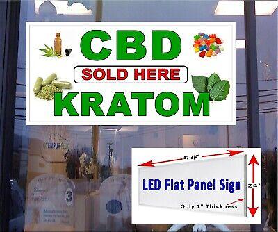 CBD Kratom Sold here 24x36 Advertising Poster Sign