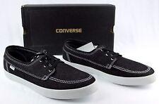 New CONVERSE All Star Sea Star L/S OX Black Denim Skate Boat Shoes Men's 13 NIB