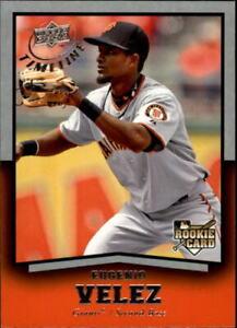 2008 (GIANTS) Upper Deck Timeline #83 Eugenio Velez Rookie Baseball Card
