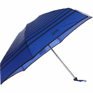 JEAN PAUL GAULTIER Cream /& Blue Striped Umbrella