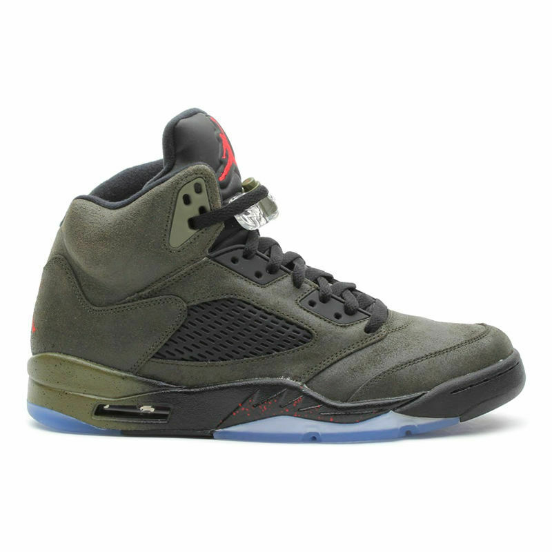 2013 New Air Jordan V 5 Retro Fear Pack sz 11 Olive Black Green  626971 350