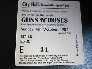 Guns-N-Roses-Concert-Coasters-Ticket-October-1987-High-quality-mdf