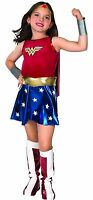 Wonder Woman Classic Girls Deluxe Costume W/ Cape Kids Child Size S,m,l