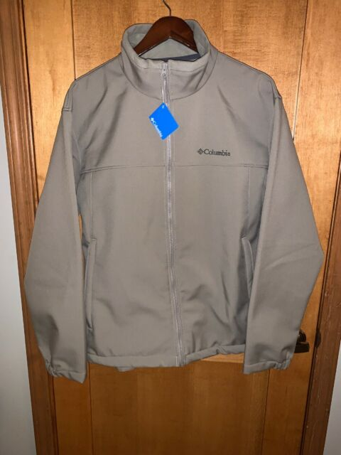 Mens Columbia Mt Village Omni-Shield Water Wind Resistant Softshell Jacket Black