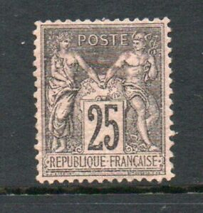 France-1876-25c-Black-Peace-and-commerce-MH-Very-Fine-Well-centered