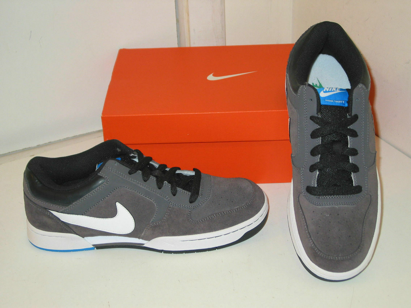 Nike skeet merletto bianco e grigio scarpe camoscio atletico casual scarpe scarpe grigio Uomo 8,5 fe5d13