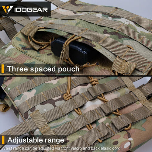 IDOGEAR Tactical Vest JPC Jumpable Plate Carrier Body Armor MOLLE Airsoft Gear