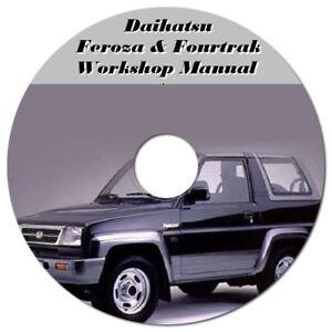 daihatsu feroza rocky f70 f75 f77 f300 f310 workshop manual digital rh ebay com au daihatsu rocky workshop manual pdf daihatsu rocky f75 workshop manual